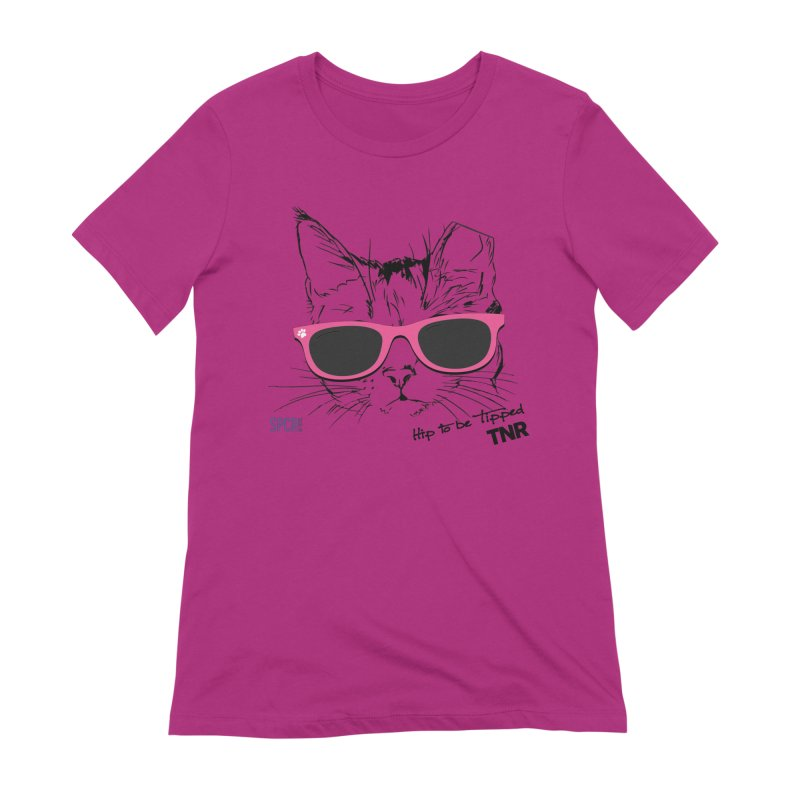 Hip to Be Tipped - TNR Women's Extra Soft T-Shirt by SPCA of Texas' Artist Shop