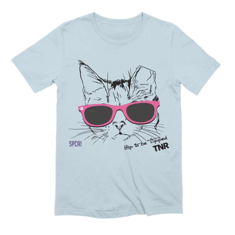 Hip to Be Tipped - TNR Men's Extra Soft T-Shirt by SPCA of Texas' Artist Shop