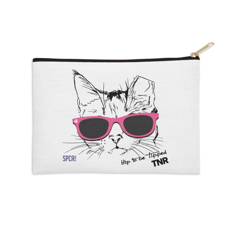 Hip to Be Tipped - TNR Accessories Zip Pouch by SPCA of Texas' Artist Shop