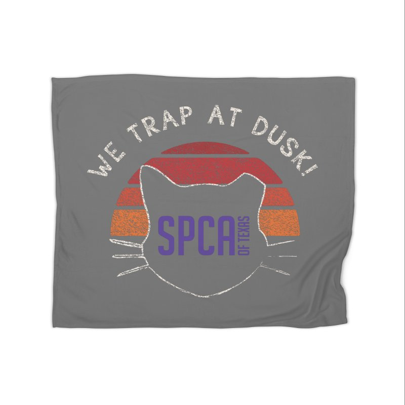 WE TRAP AT DUSK! TNR Home Blanket by SPCA of Texas' Artist Shop