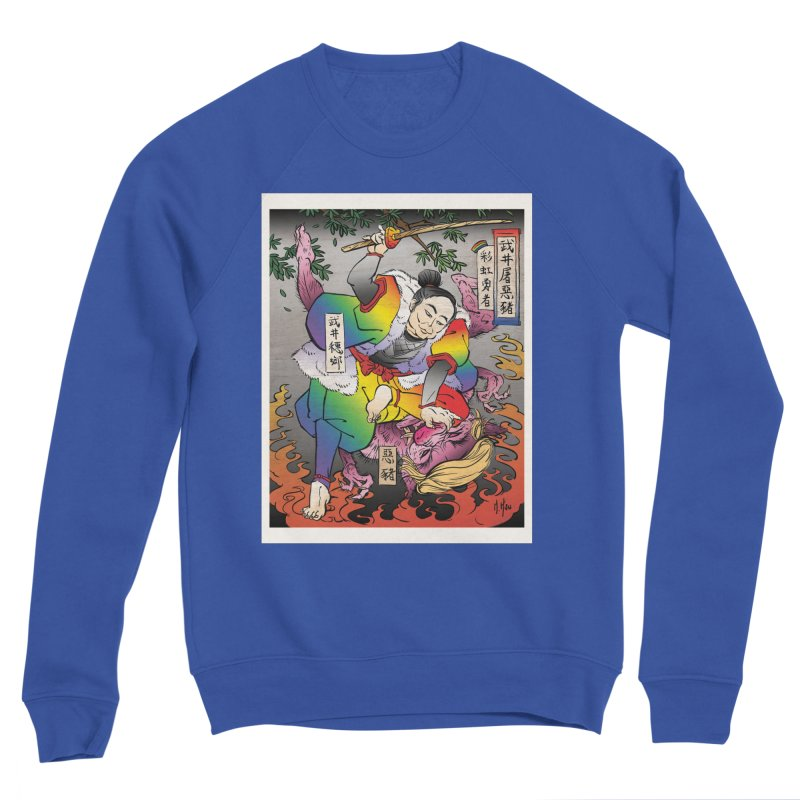 Takei Slays Demon Pig Men's Sweatshirt by SQETCHBOOK