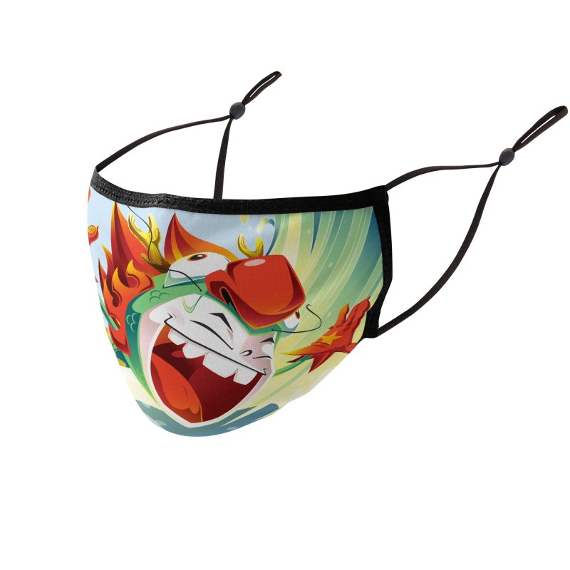 Dragon Boy Splash Face Mask Accessories Face Mask by SQETCHBOOK