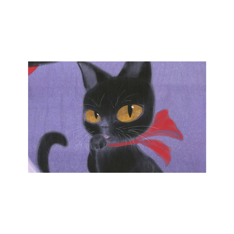 Black Cat Bow Face Mask Accessories Face Mask by SQETCHBOOK