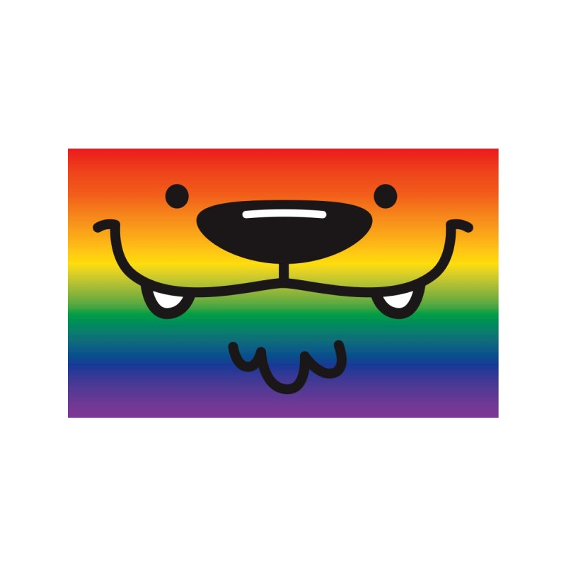 Rainbow Pup Face Mask Accessories Face Mask by SQETCHBOOK