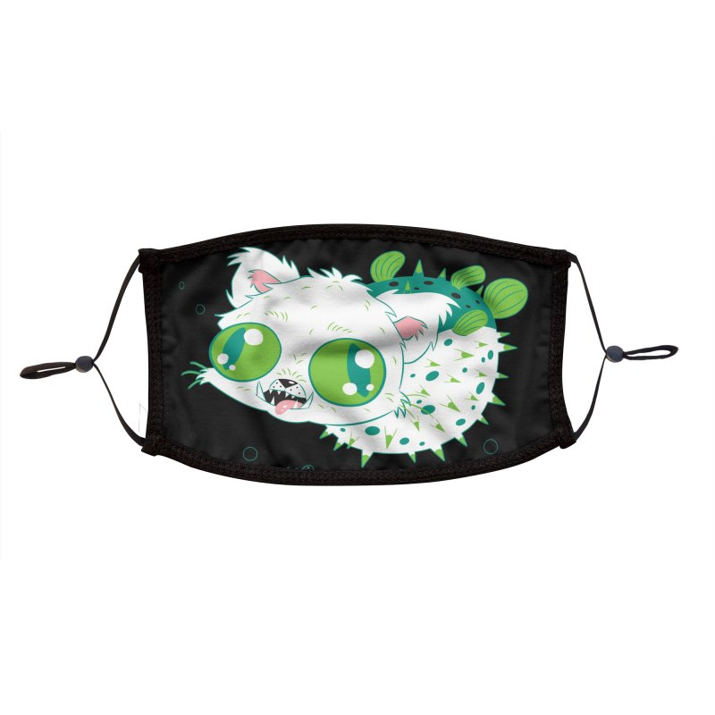 Puffer Cat Face Mask Accessories Face Mask by SQETCHBOOK