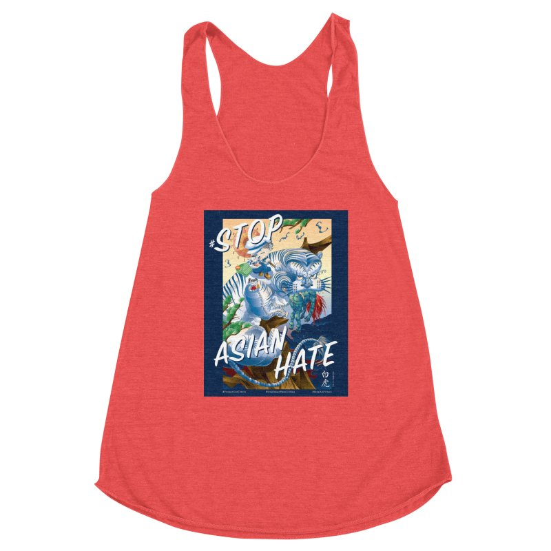 Stop Asian Hate- Tiger T-shirt Women's Tank by SQETCHBOOK