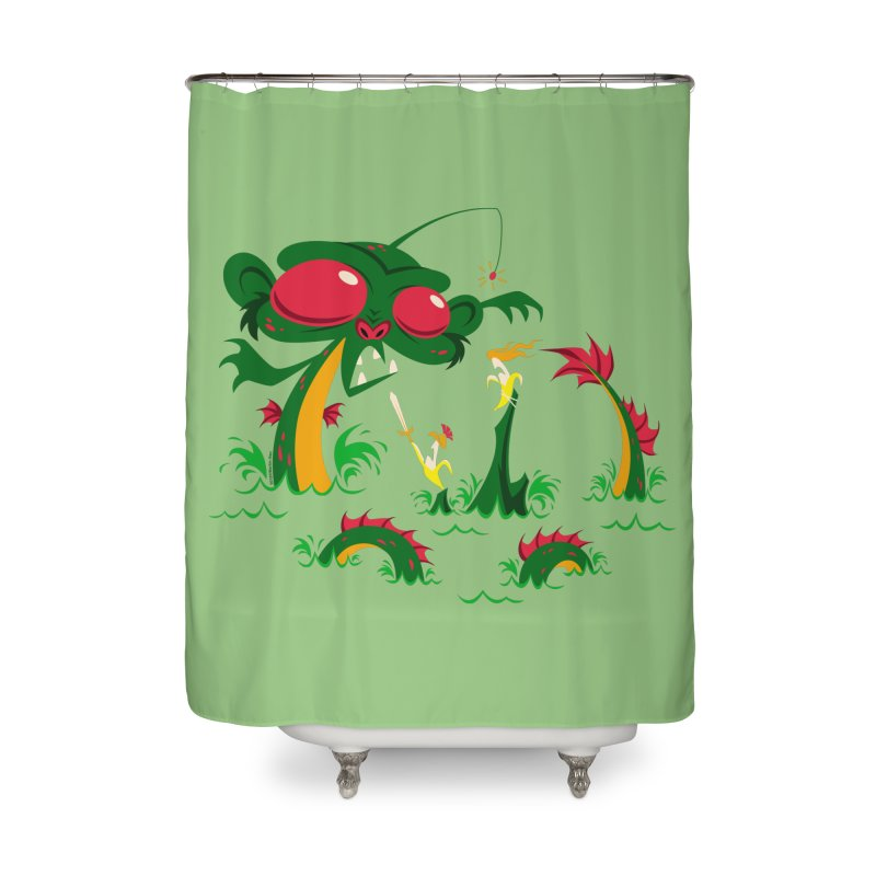 Sea Monkey Home Shower Curtain by SQETCHBOOK