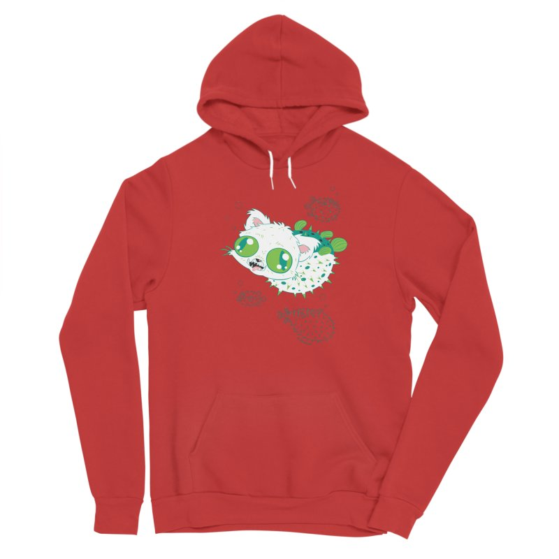Puffer Cat Women's Pullover Hoody by SQETCHBOOK