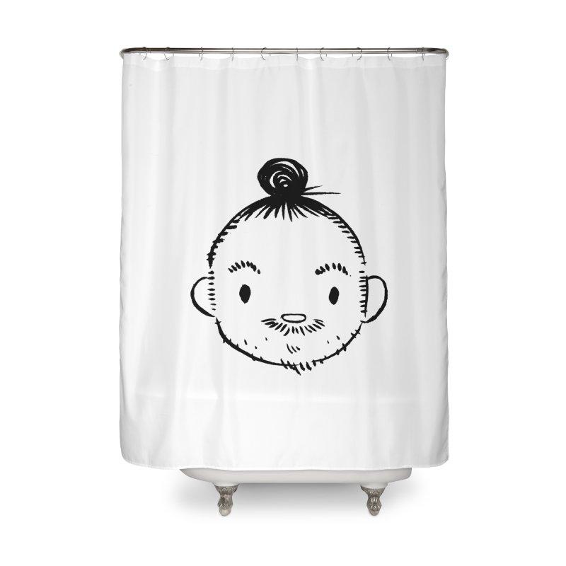 Bun Man Home Shower Curtain by SQETCHBOOK