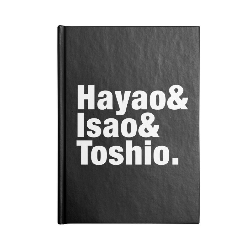Hayao & Isao & Toshio - White Accessories Notebook by SQETCHBOOK