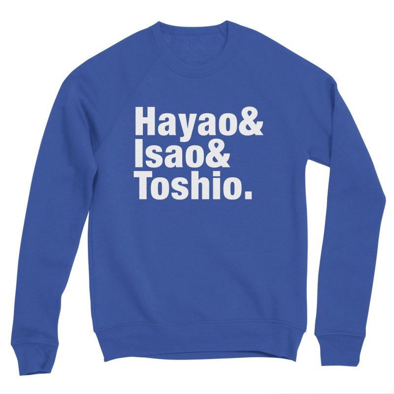 Hayao & Isao & Toshio - White Men's Sweatshirt by SQETCHBOOK