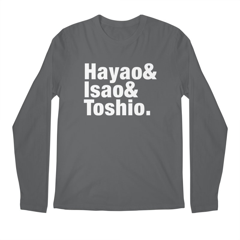 Hayao & Isao & Toshio - White Men's Longsleeve T-Shirt by SQETCHBOOK