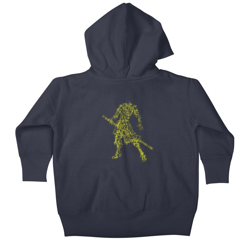 Words of a Warrior  Kids Baby Zip-Up Hoody by SUBTERRA's Shop