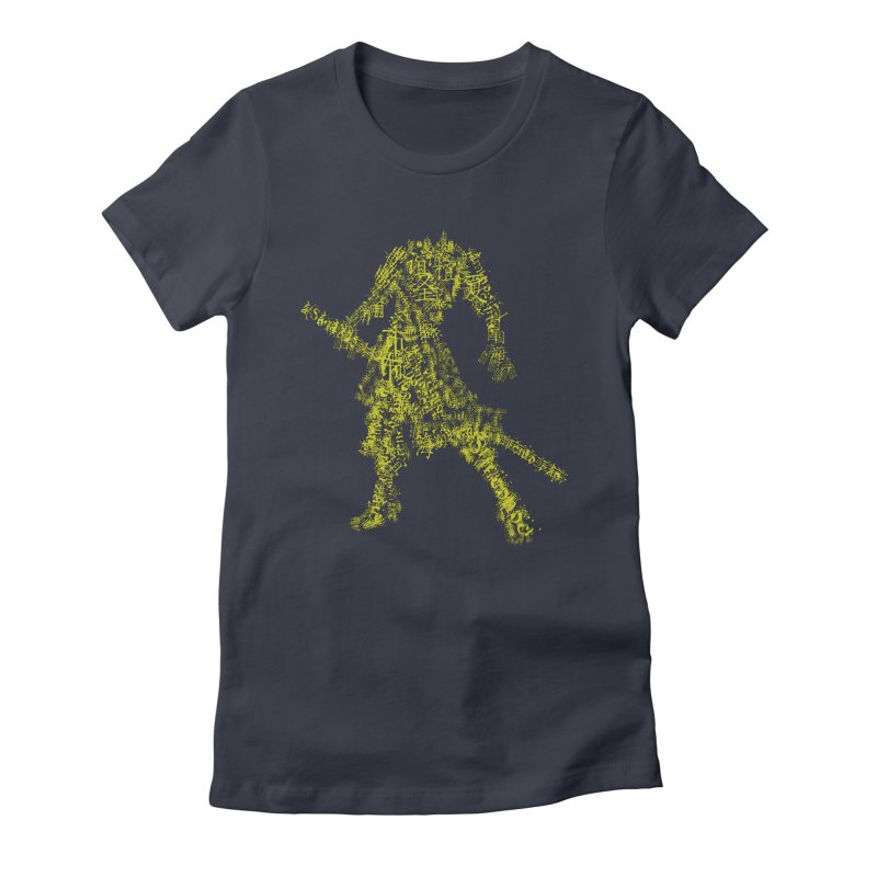Words of a Warrior  Women's Fitted T-Shirt by SUBTERRA's Shop