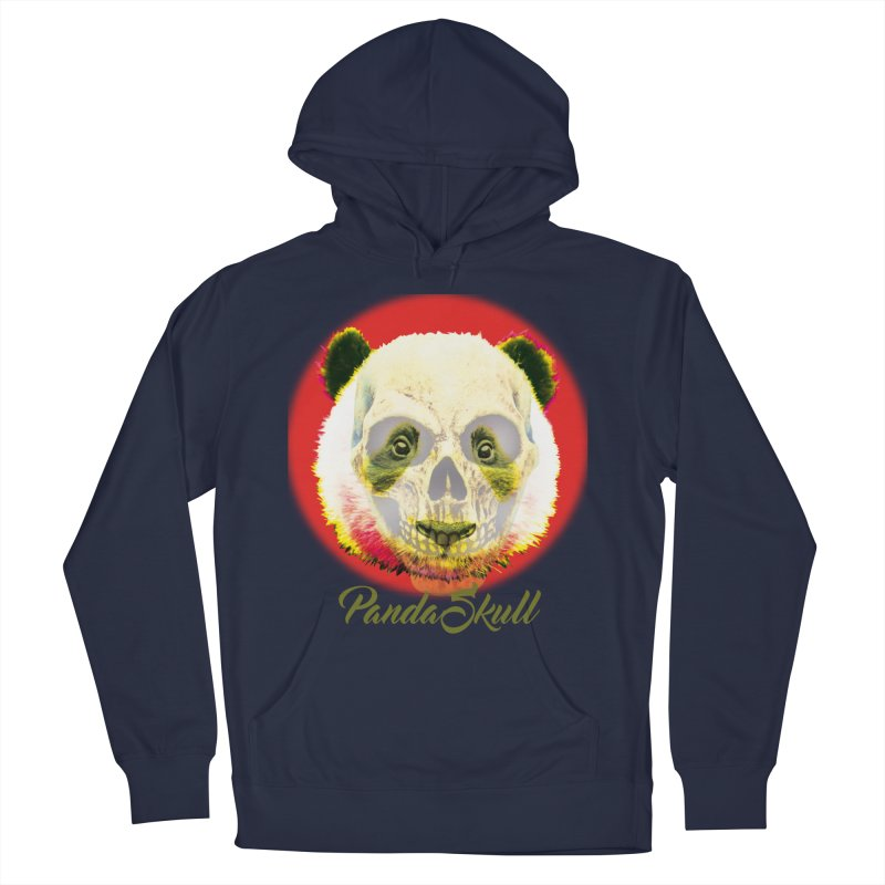 Panda skull in Women's French Terry Pullover Hoody Navy by SUBTERRA's Shop