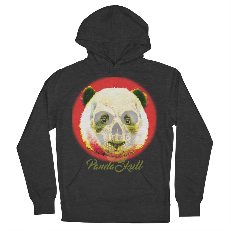 Panda skull Men's French Terry Pullover Hoody by SUBTERRA's Shop
