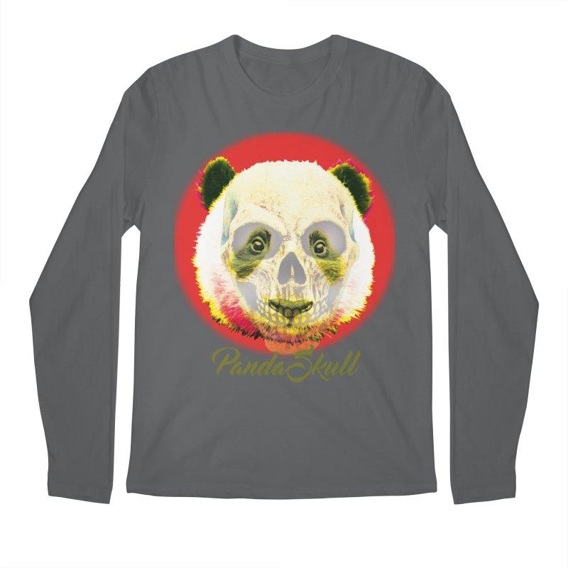 Panda skull Men's Regular Longsleeve T-Shirt by SUBTERRA's Shop