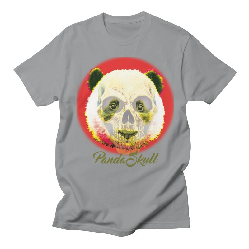 Panda skull Men's Regular T-Shirt by SUBTERRA's Shop