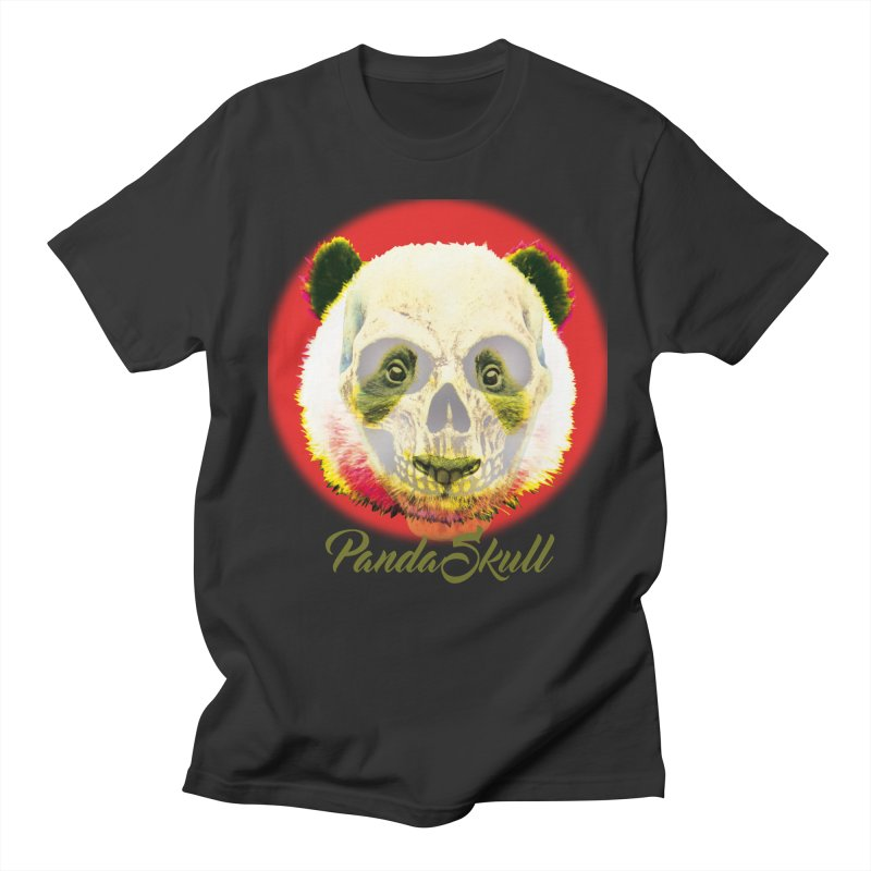 Panda skull Men's Regular T-Shirt by SUBTERRA's Shop