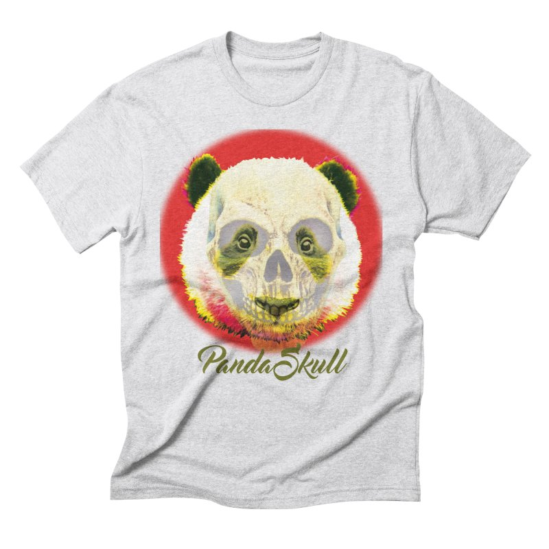 Panda skull in Men's Triblend T-shirt Heather White by SUBTERRA's Shop