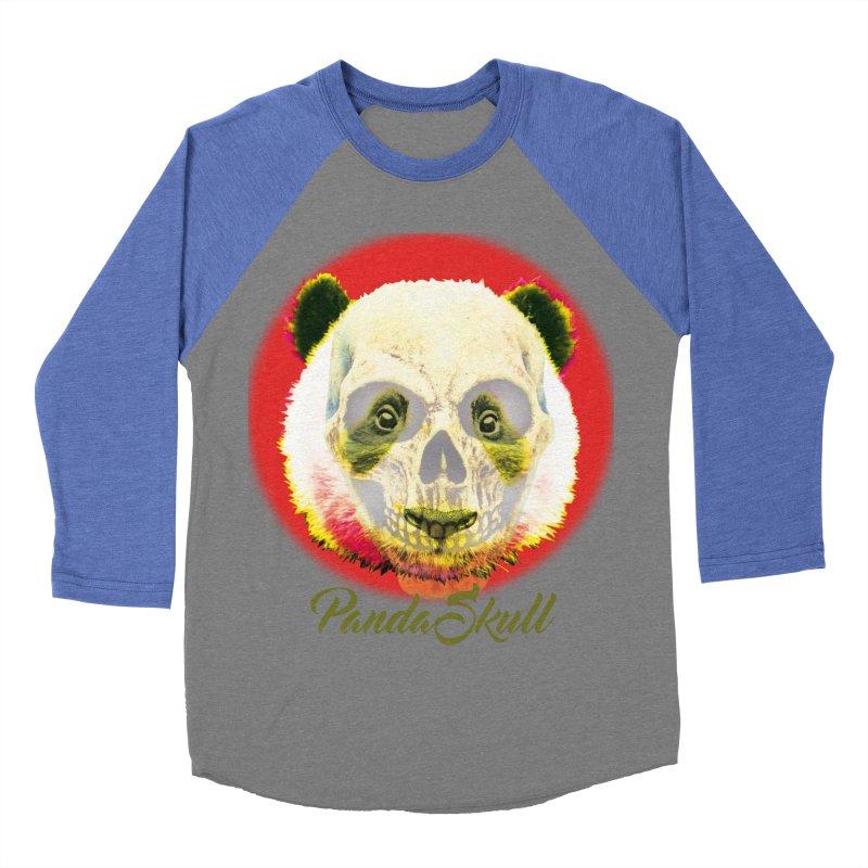 Panda skull Women's Baseball Triblend Longsleeve T-Shirt by SUBTERRA's Shop