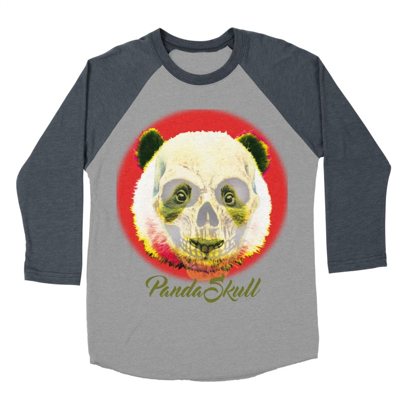 Panda skull Women's Baseball Triblend T-Shirt by SUBTERRA's Shop
