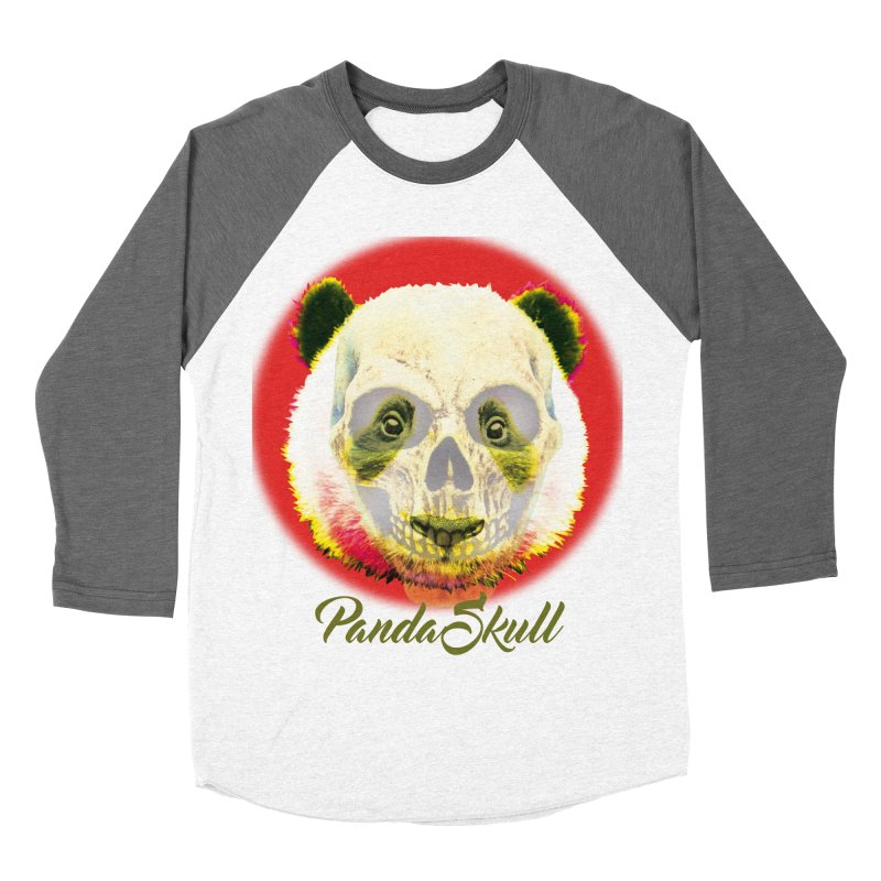 Panda skull Men's Baseball Triblend Longsleeve T-Shirt by SUBTERRA's Shop