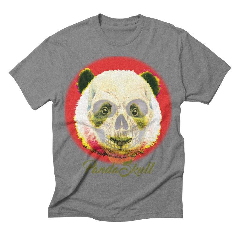 Panda skull Men's Triblend T-shirt by SUBTERRA's Shop