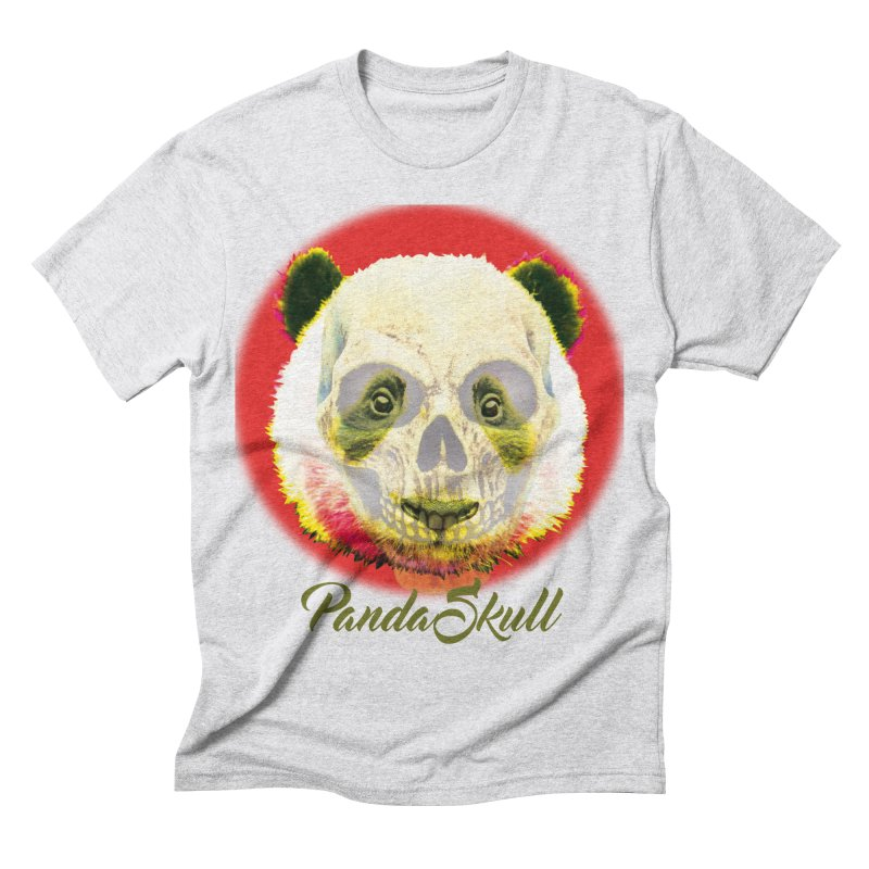 Panda skull Men's Triblend T-shirt by SUBTERRA's Shop