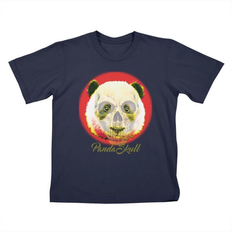 Panda skull Kids T-Shirt by SUBTERRA's Shop
