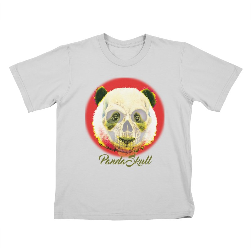 Panda skull Kids T-Shirt by SUBTERRA's Shop