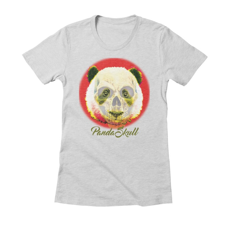 Panda skull Women's Fitted T-Shirt by SUBTERRA's Shop