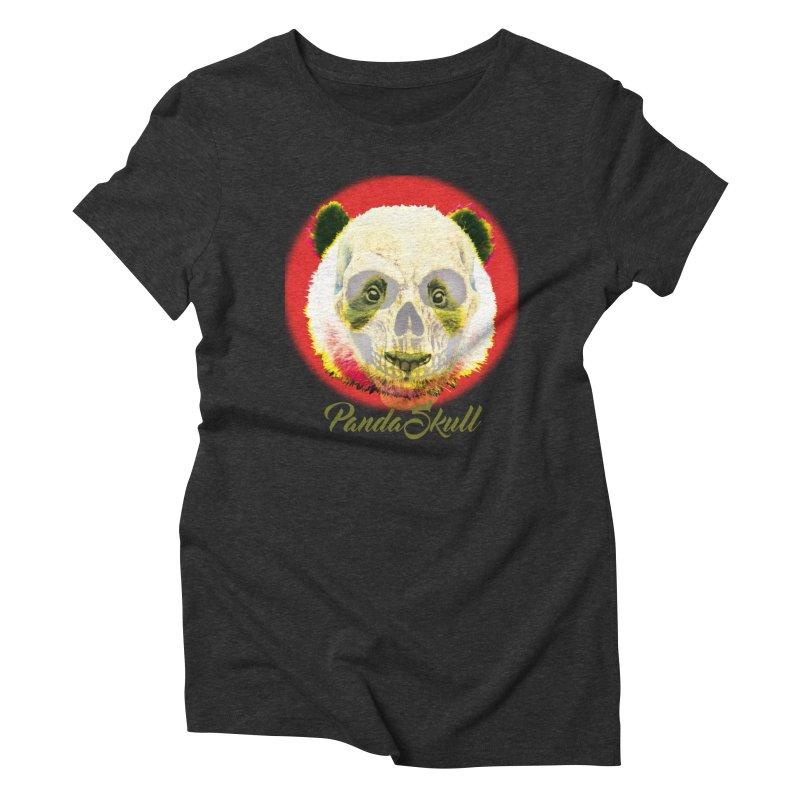 Panda skull Women's Triblend T-Shirt by SUBTERRA's Shop