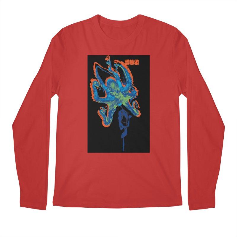 octupus in Men's Regular Longsleeve T-Shirt Red by SUBTERRA's Shop