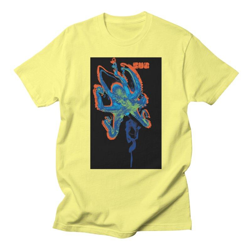 octupus in Men's Regular T-Shirt Lemon by SUBTERRA's Shop