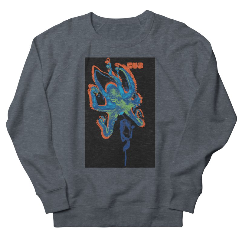 octupus in Men's French Terry Sweatshirt Heather Navy Denim by SUBTERRA's Shop
