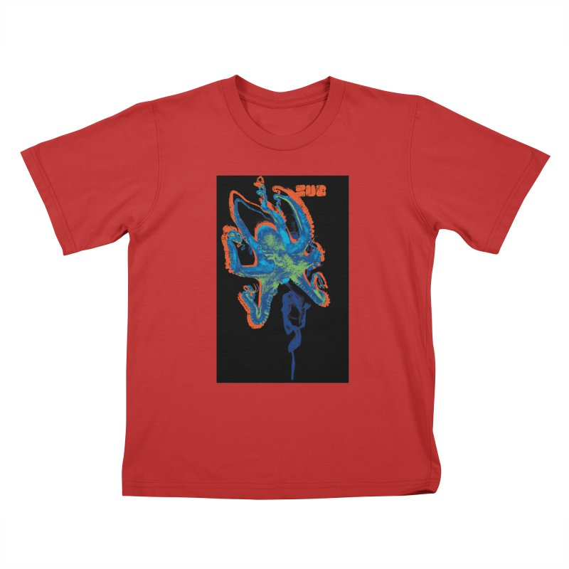 octupus Kids T-Shirt by SUBTERRA's Shop