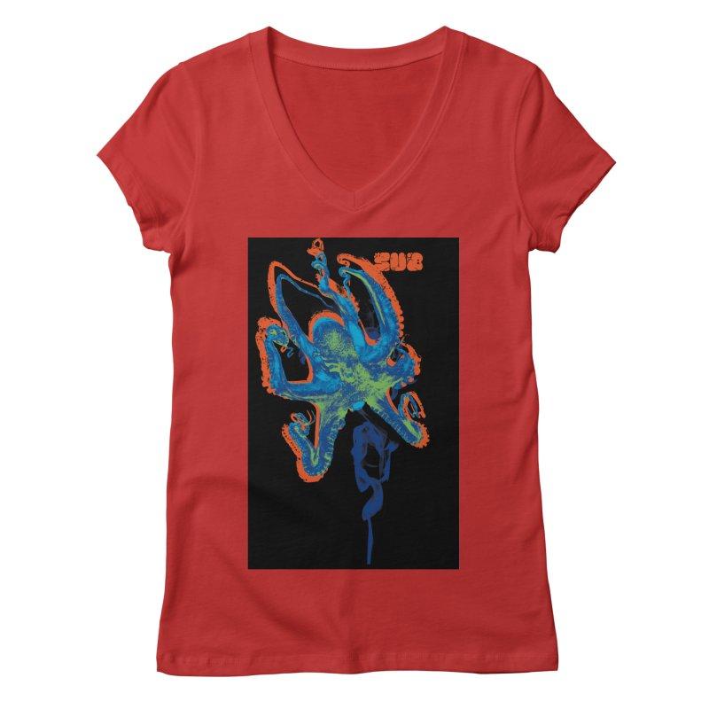 octupus Women's V-Neck by SUBTERRA's Shop