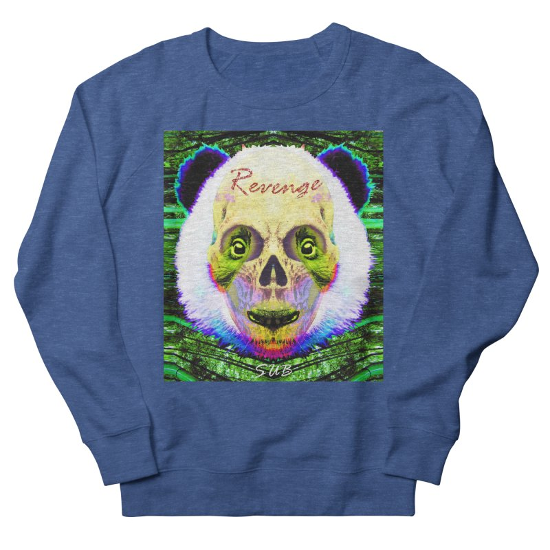 Panda Skull II in Men's French Terry Sweatshirt Heather Royal by SUBTERRA's Shop