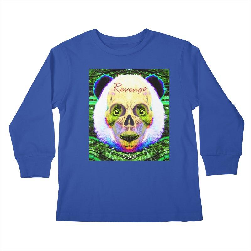 Panda Skull II Kids Longsleeve T-Shirt by SUBTERRA's Shop