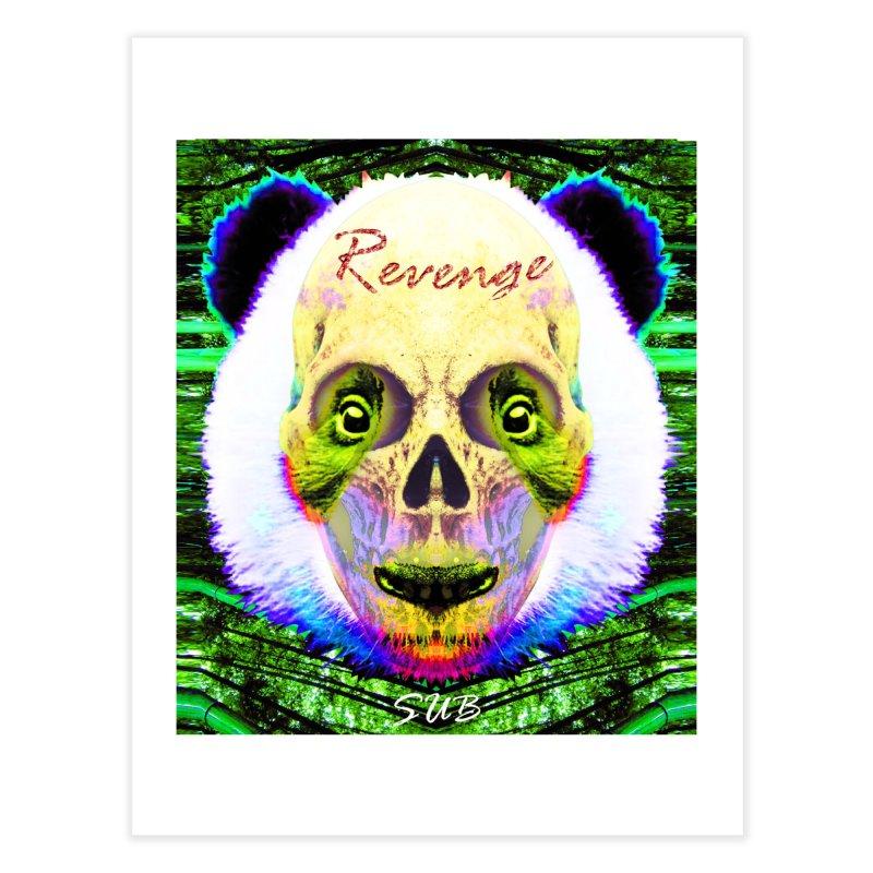 Panda Skull II Home Fine Art Print by SUBTERRA's Shop