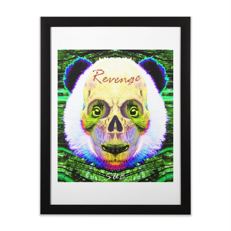 Panda Skull II Home Framed Fine Art Print by SUBTERRA's Shop