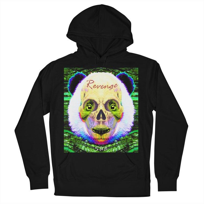 Panda Skull II in Women's French Terry Pullover Hoody Black by SUBTERRA's Shop