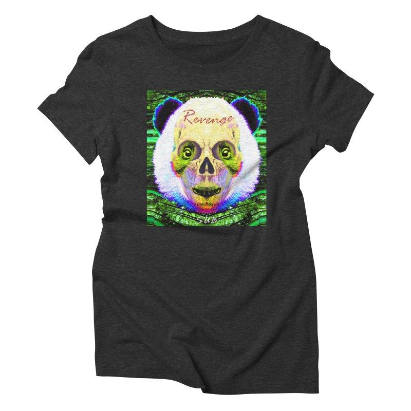 Panda Skull II Women's Triblend T-Shirt by SUBTERRA's Shop