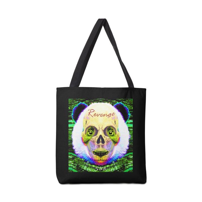Panda Skull II Accessories Tote Bag Bag by SUBTERRA's Shop