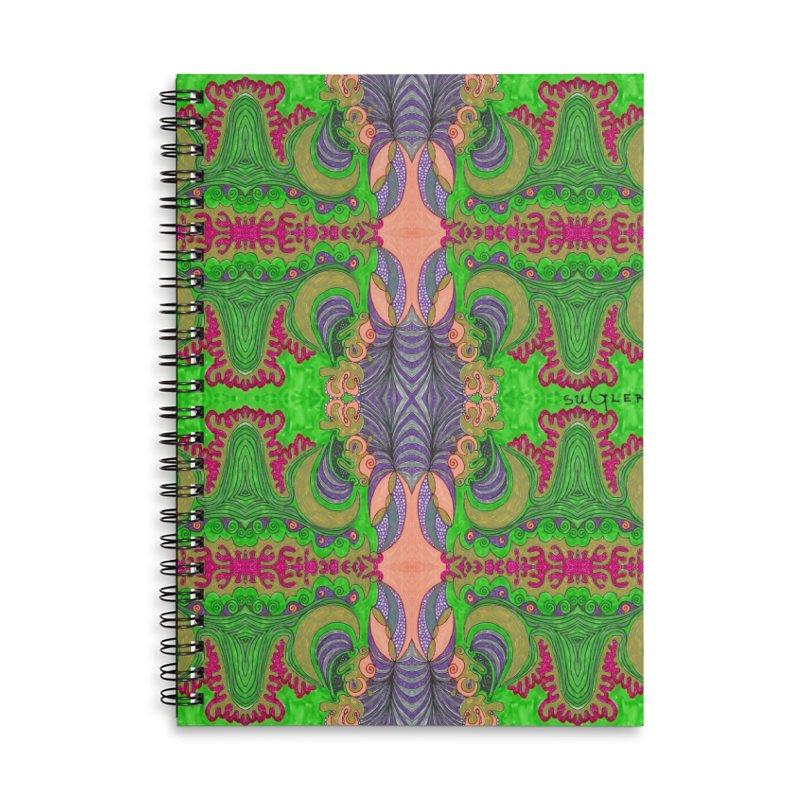 suGleri art Accessories Lined Spiral Notebook by SUGLERI's Artist Shop