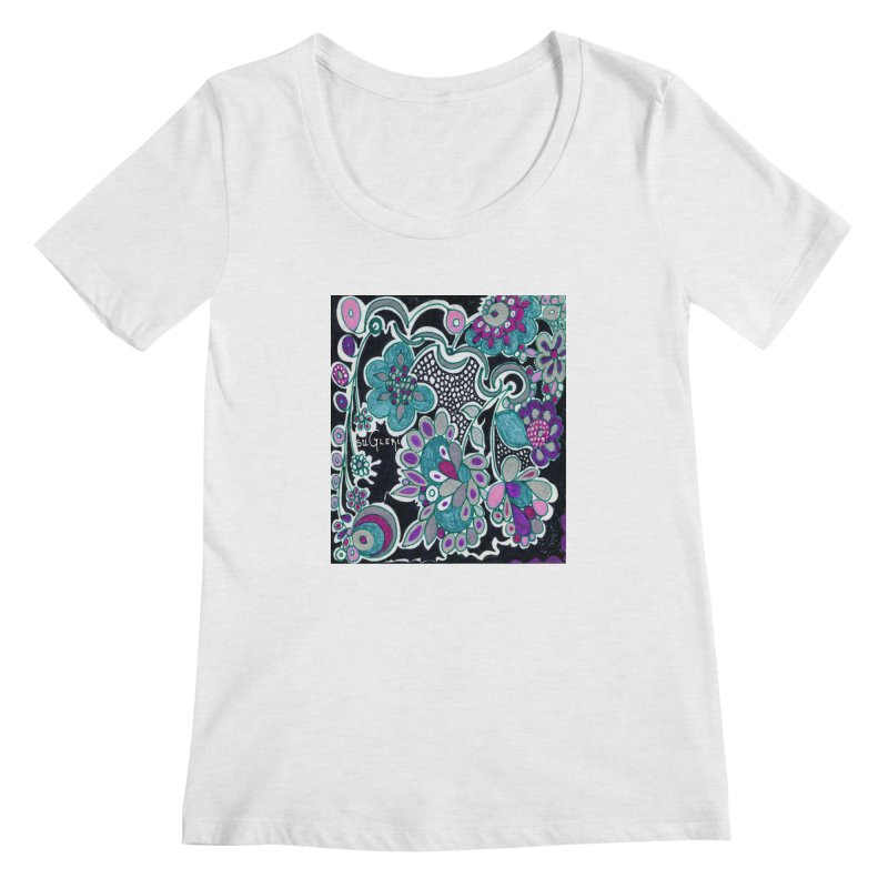 Unique Sugleri Art Women's Regular Scoop Neck by SUGLERI's Artist Shop