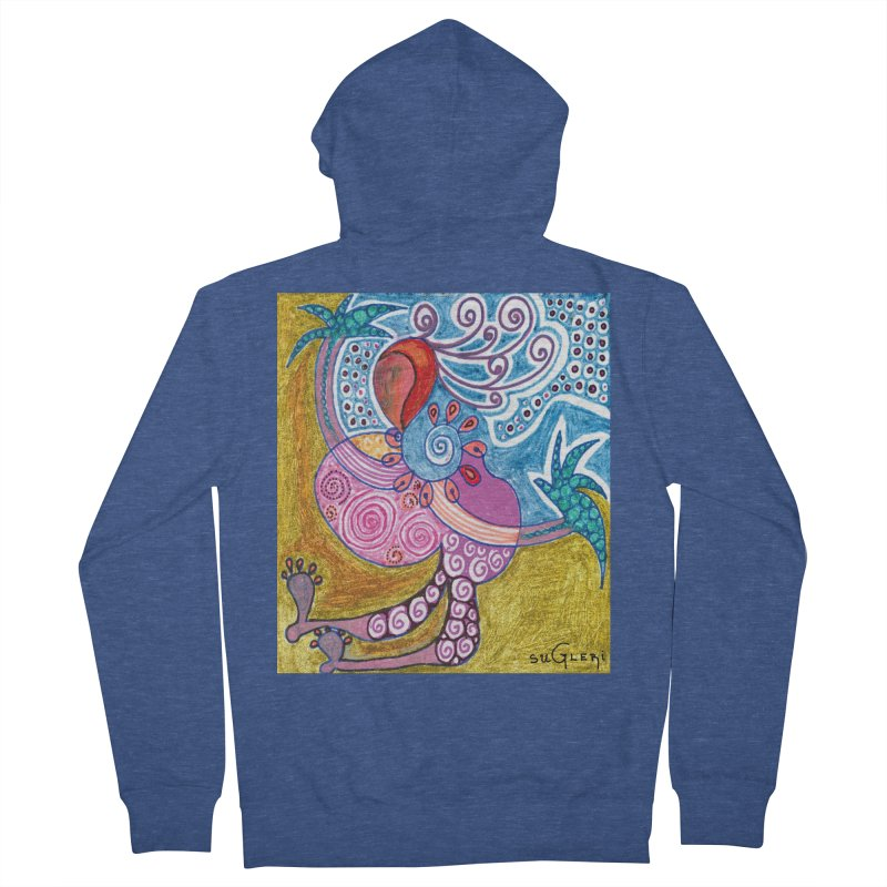 Women's French Terry Zip-Up Hoody by SUGLERI's Artist Shop