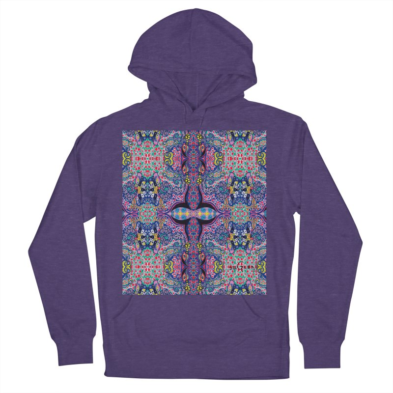 SUGLERI ART DESIGN in Women's French Terry Pullover Hoody Heather Purple by SUGLERI's Artist Shop