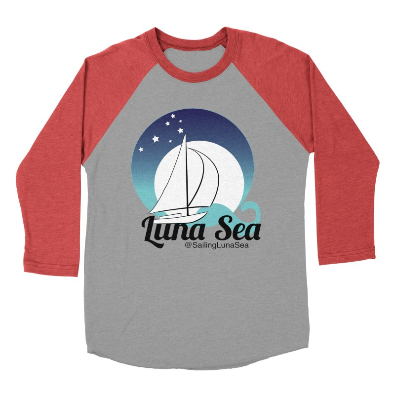 Sailing Luna Sea Logo Tees and Swag Women's Baseball Triblend T-Shirt by Sailing Luna Sea's Swag Shop